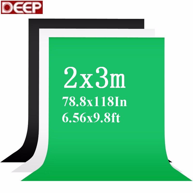 2X3 m FONDO DE FOTO Fotografia pantalla verde fotografía telones de croma blanco telón de fondo negro para el estudio de la foto