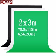 2X3m fotografia tło Fotografia zielony tęcza Fotografia Backdrops Chroma Key białe tło czarne tła dla Photo Studio tanie tanio Włóknina Jednolity kolor 2x3metr Lakierowane Tło fotograficzne 2metr szerokość 3metr długości zielony biały czarny
