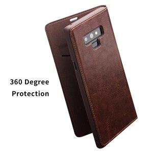 Image 5 - QIALINO אופנה אמיתי עור תיק כיסוי עבור Samsung Galaxy הערה 9 יוקרה Ultrathin כרטיס חריץ מקרה עבור גלקסי הערה 9 6.4 inches