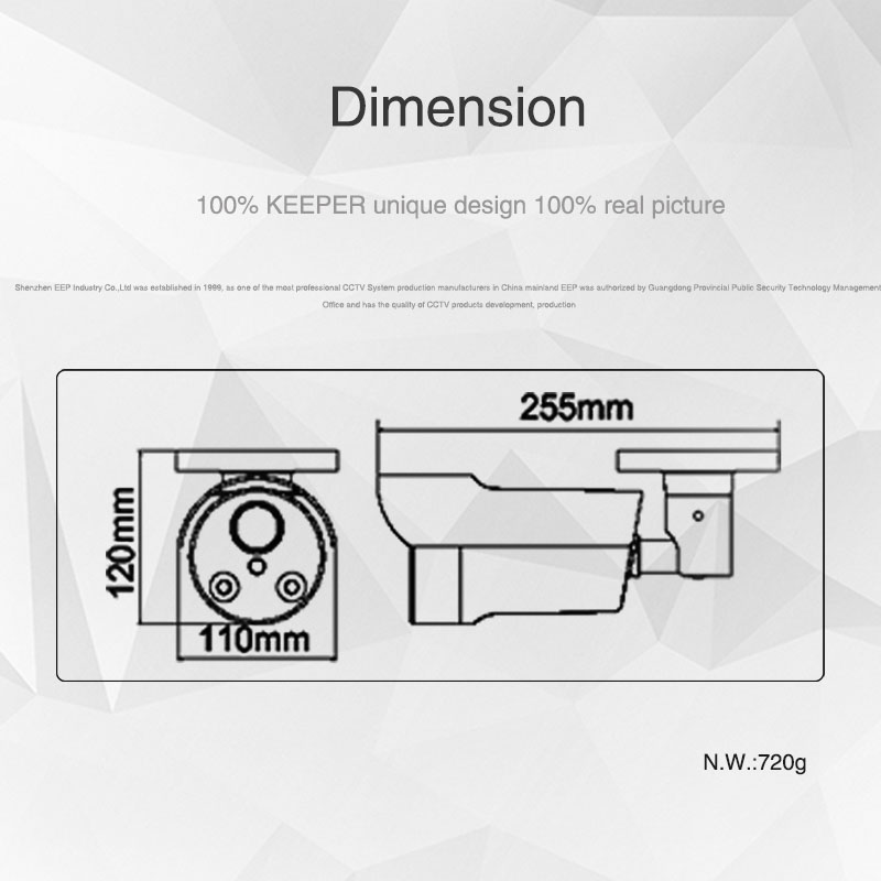 Keeper AHD 2.0MP 1080P SONY IMX323 Full HD Outdoor Waterproof Security Video Surveillance CCTV Camera With Varifocal 2.8-12 Lens