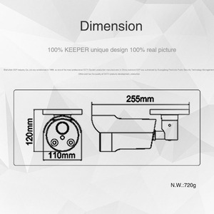 Image 5 - Keeper AHD 2.0MP 1080P SONY IMX323 Full HD Outdoor Waterproof Security Video Surveillance CCTV Camera With Varifocal 2.8 12 Lens