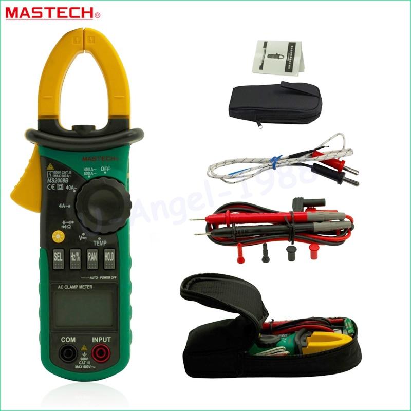 MASTECH MS2008B Digital Clamp DC AC Volt Current Res Cap Temp Freq Meter