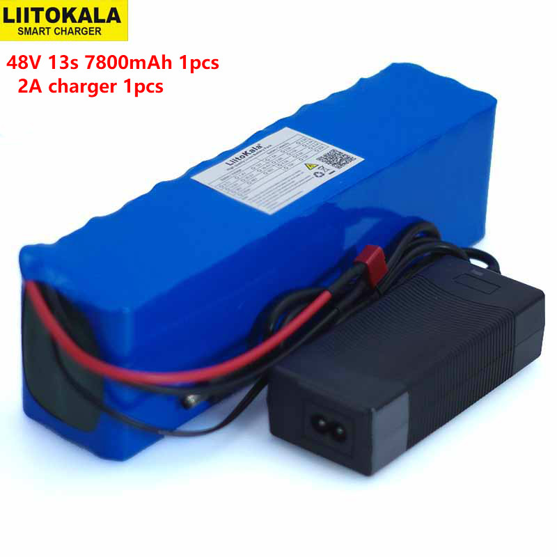 LiitoKala 48V 7.8ah 13s3p High Power 18650 Battery Electric Vehicle Electric Motorcycle DIY Battery BMS Protection+2A Charger