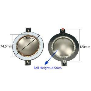 Image 2 - GHXAMP 74.5mm TREBLE Voice Coil Speakers Titanium Film Tweeter Ring Voice Diaphragm Speaker Accessories DIY 1Pairs