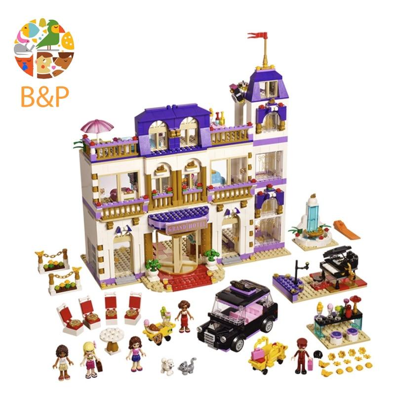 Legoing 41101 1585pcs Friends Series The Heartlake Grand Hotel Model Building Blocks Bricks Toys For Children Gift 01047 lepin