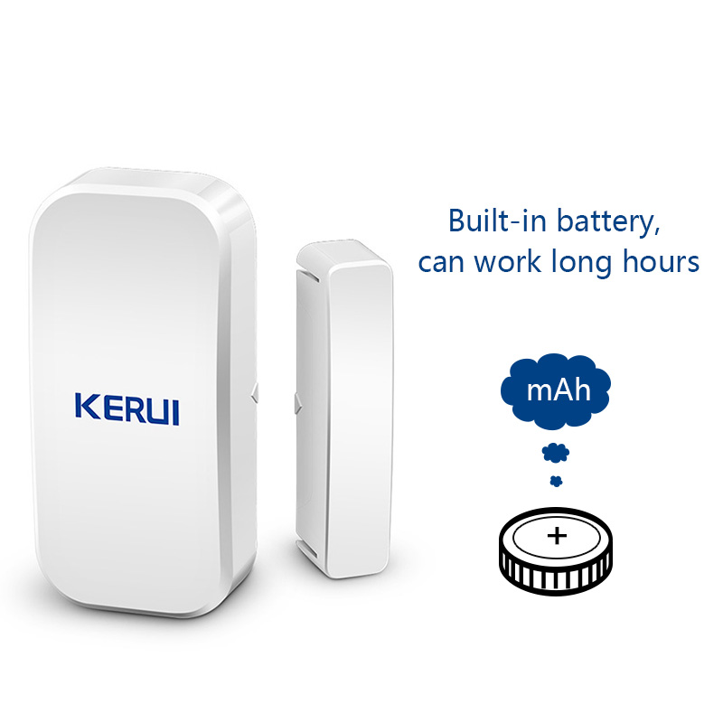 Image 3 - KERUI  433MHz Door Window Alarm Sensor Wireless Magnetic Switch Contact Detector Signaling for Intruder Security Alarm System-in Sensor & Detector from Security & Protection
