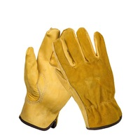 Safurance Men S Work Gloves Cowhide Driver Security Protection Wear Safety Workers Welding Moto Gloves