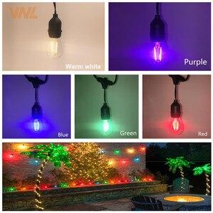 Image 2 - VNL IP65 15 เมตร Commercial LED String ไฟ S14 LED Multicolor Light String กันน้ำสำหรับ Holiday Garland งานแต่งงานแสง