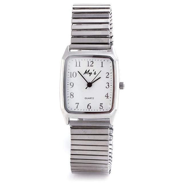 2016 New Fashion Watch Women Elastic Steel Strap Casual Quartz Wristwatch Luxury