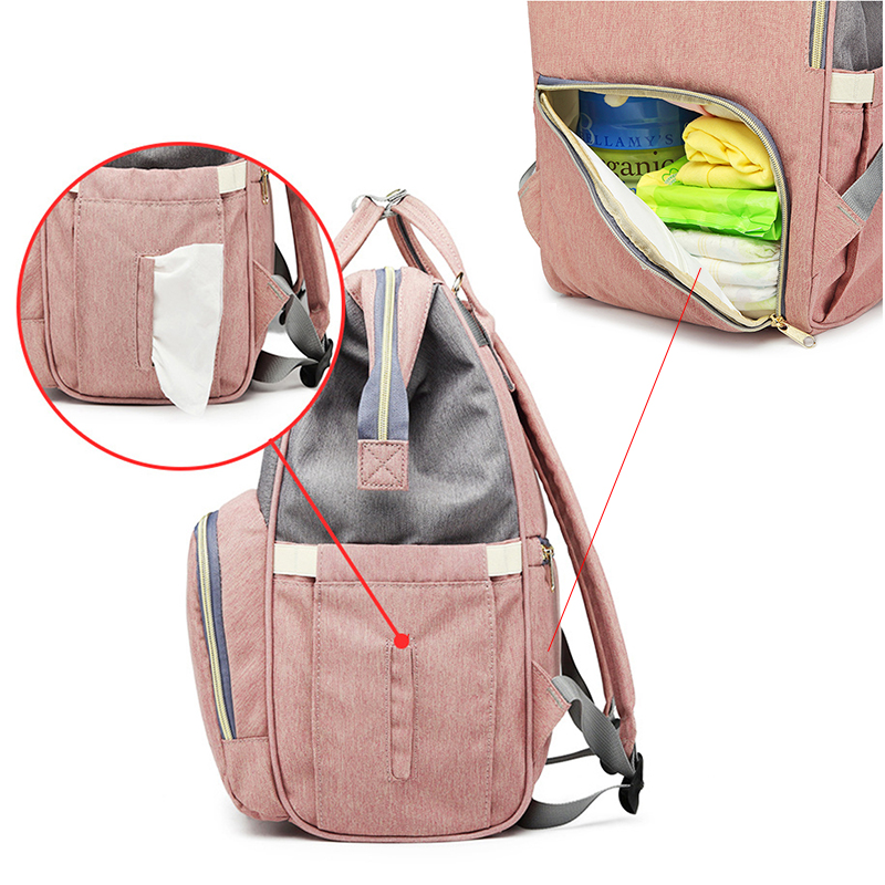 Nappy Backpack Bag Mummy Large Capacity Bag Baby Multi function Waterproof Travel Diaper Bags For Baby Nappy Backpack Bag Mummy Large Capacity Bag Baby Multi-function Waterproof Travel Diaper Bags For Baby Care Droshipping