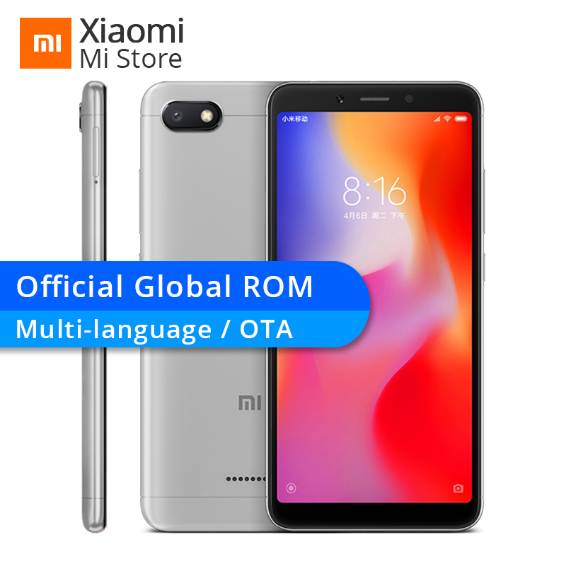 "Xiaomi Redmi 6a 6 A 2gb Ram 16gb Rom Helio A22 Mobile Phone Ota 13.0 Mp + 5.0mp 3000mah 5.45"" 18:9 Full Screen 1440*720"