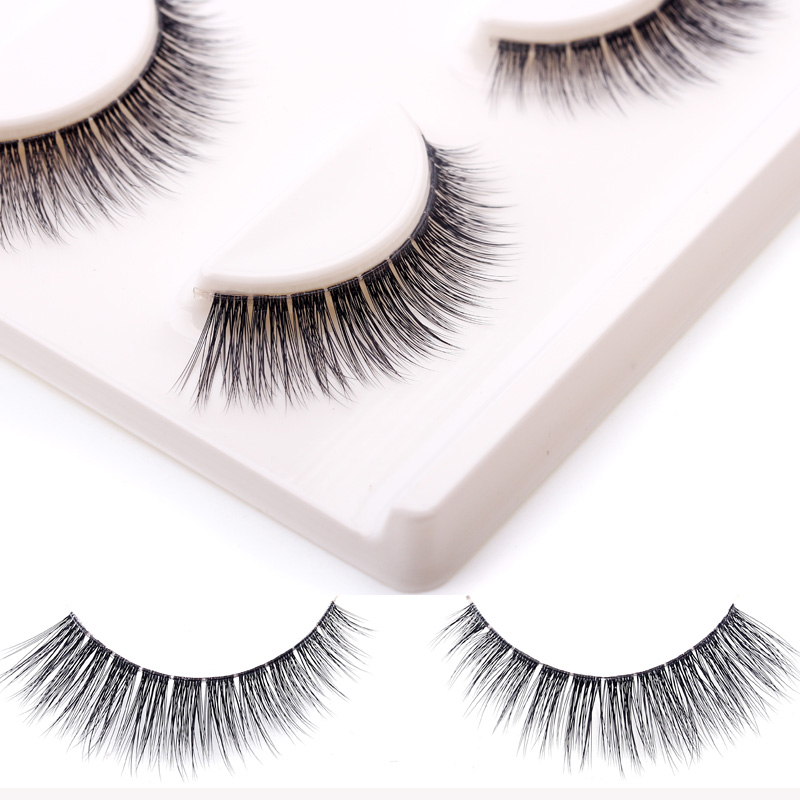 Strong-Willed 3pairs Natural Long Thick Fake Eyelashes For Building Makeup Beauty Tools Handmade 3d Thick False Eye Lashes Eyelash Extensions Beauty Essentials
