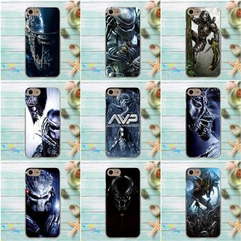 Suef Alien Vs Predator For Apple iPhone 4 4S 5 5C SE 6 6S 7 8 Plus X For LG G3 G4 G5 G6 K4 K7 K8 K10 V10 V20 TPU Skin Paintin шрифт с фильма хищник