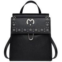 Высокое качество Натуральная кожа сумка рюкзак 2018 большая дорожная сумка леди рюкзаки для девочек школьные сумки mochilas mujer 2018 QM101