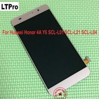 Tested Working Black White Gold LCD Display Touch Screen Digitizer Assembly For Huawei Honor 4A Y6