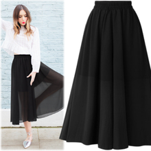 Europe and the wind nets yarn chiffon bust divided skirts long posed they pure color 2019 womens midi korean tulle high waist