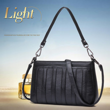 Women Temperament Shoulder Bag Small Stripes Simple High Quality Messenger Exquisite Ladies Soft Multiple Compartment