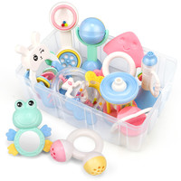 12 Styles/set Baby's Rattles Set Cute Different Shape Bell Ring Combination with Storage Box and Gift Bag Infant Rattles Set