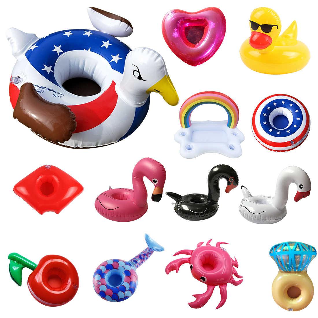 New Inflatable Kolam Renang Float Piala Minum Bir Pemegang Zwembad Meja Bar Nampan Musim Panas Kolam Mainan Pesta Pantai Aksesoris