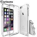 6 6 s case para iphone 6 6 s plus cajas del teléfono híbrido transparente acrílico + tpu de silicona cubierta de coque para iphone 6 s 6 plus case ARTISOME