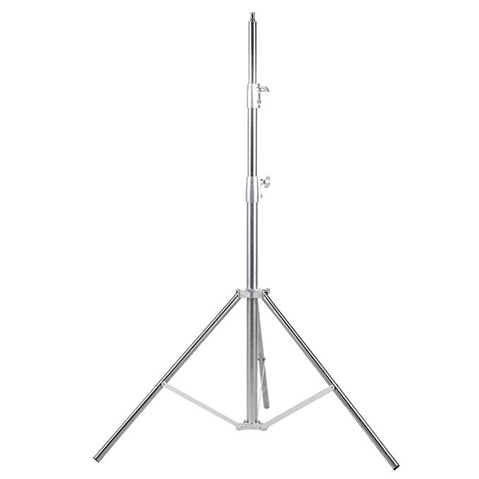 Fomito Nicefoto 260cm Light Stand LS 280S Stainless Steel 3 Section Heavy Duty Built in Spring