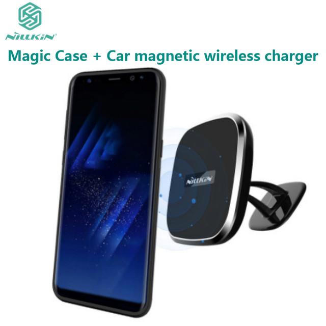 new concept 09479 3e576 US $33.89 |NILLKIN Car Magnetic Wireless Charger II + Magic Case Magnetic  Holder Back Cover For Samsung Galaxy S8 QI Wireless Charging-in Wireless ...