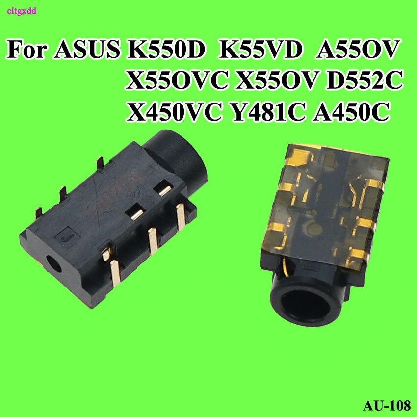 Cltgxdd New 6Pin 3.5mm Laptop Audio Port Socket Connector For Asus X550V X550VC X550CC K55VD K550D X550LD Headphone Jack
