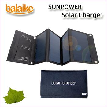 Balaike SUNPOWER folding 28W 21W 15W Solar Cells Charger 5V Dual USB Output Devices Portable Solar Panels for Smartphones