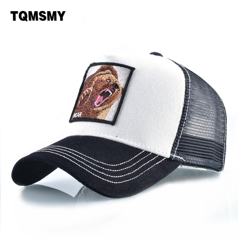 Unisex Snapback   caps   men Breathable Mesh hats for women Embroidery Bear   Baseball     Cap   Man's Cotton Hip Hop Bone Trucker Gorra