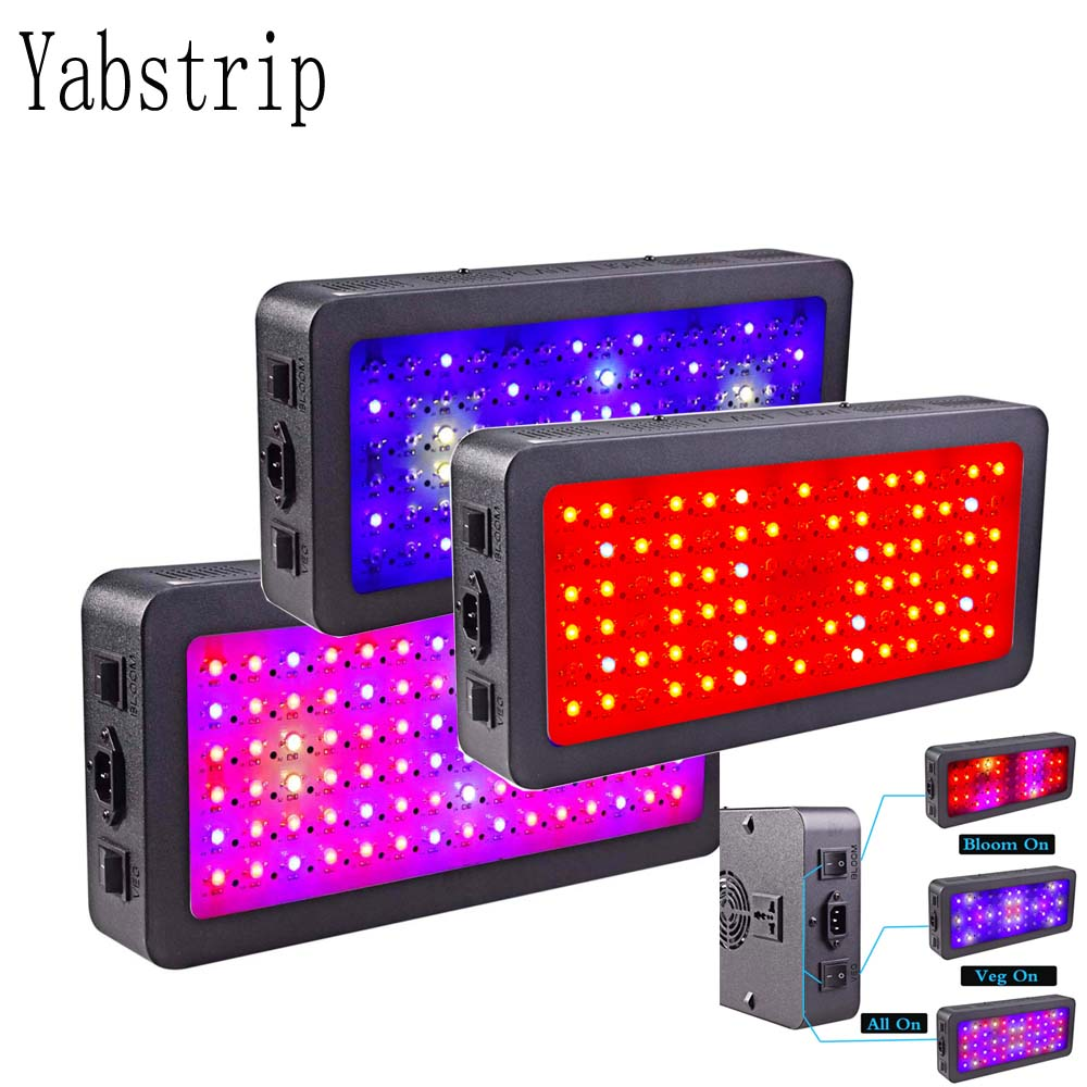 double switch LED grow light 600W 900W 1200W Full Spectrum for Indoor tent plants grow led