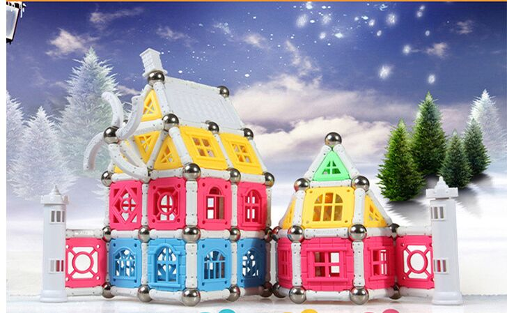 New parts High quality 510PCS Child Early Education block figure Amazing Magnetic Castle set