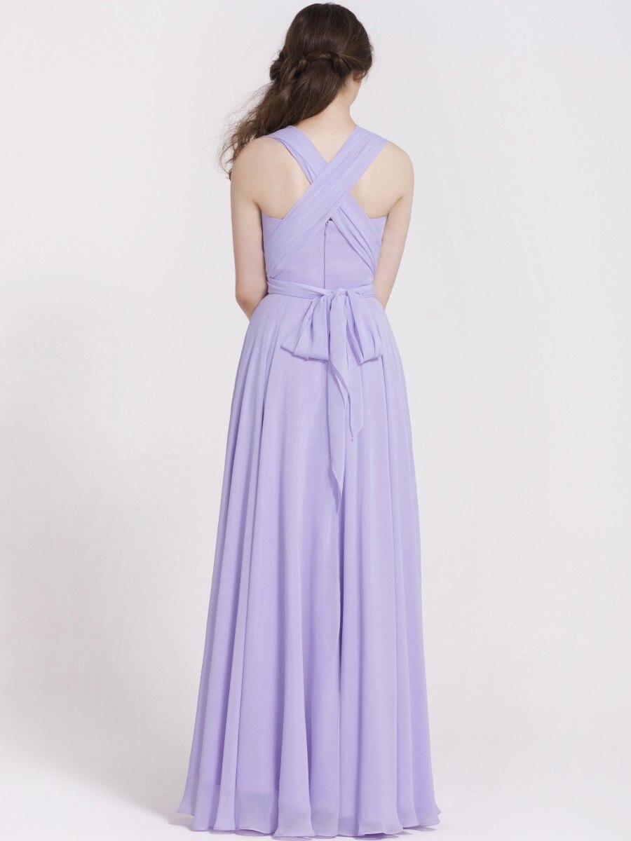 Lila/Rosa Gasa Variedad de llevar Convertible Vestido de dama de ...
