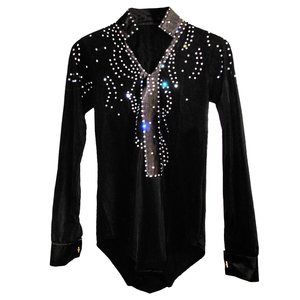 2016 New Arrival Man Ballroom Dance Tops Long Sleeve Latin Shirts Men Dance Shirt Jazz/Waltz/Tango Dancewear men Latin Dance