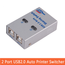 USB2.0 splitter Auto Sharing Switch Computer Randapparatuur Voor 2 PC Computer Printer Voor Office Thuisgebruik usb hub(China)
