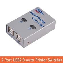 USB2.0 сплиттер Авто Обмен Switch компьютерной периферии для 2 PC компьютер принтер для офиса дома Применение usb hub