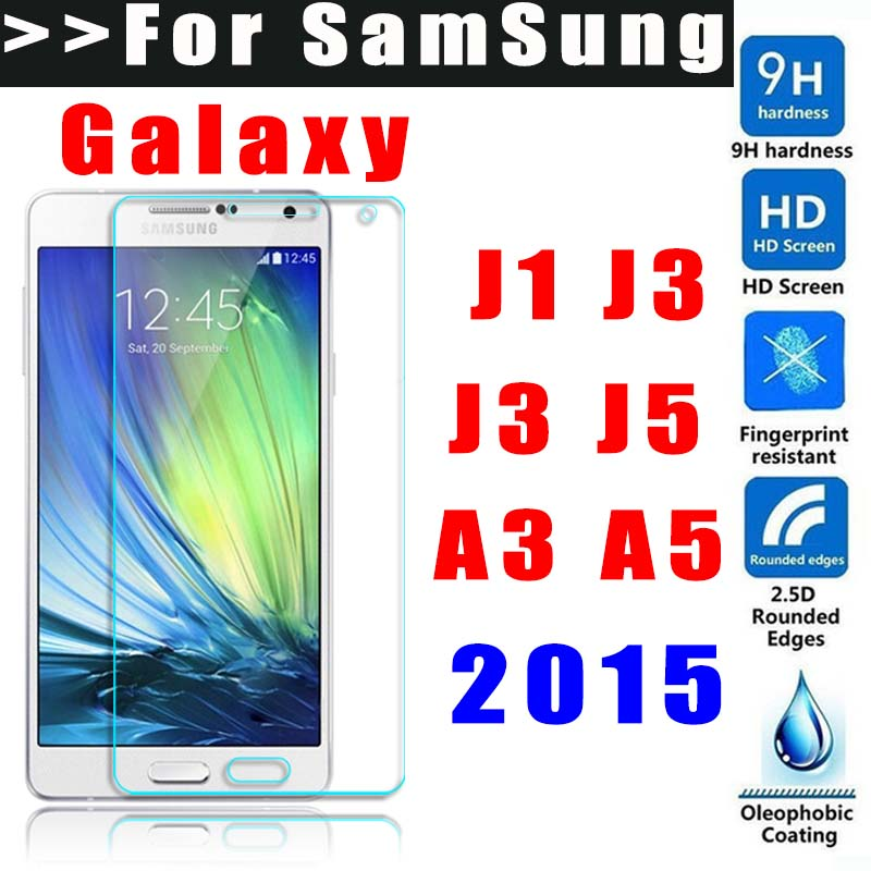 9H Ttempered glass For Samsung Galaxy Grand prime J1 J3 J5 J7 A3 A5 A7 A500 A300 2015 screen protector Toughened Protective Film