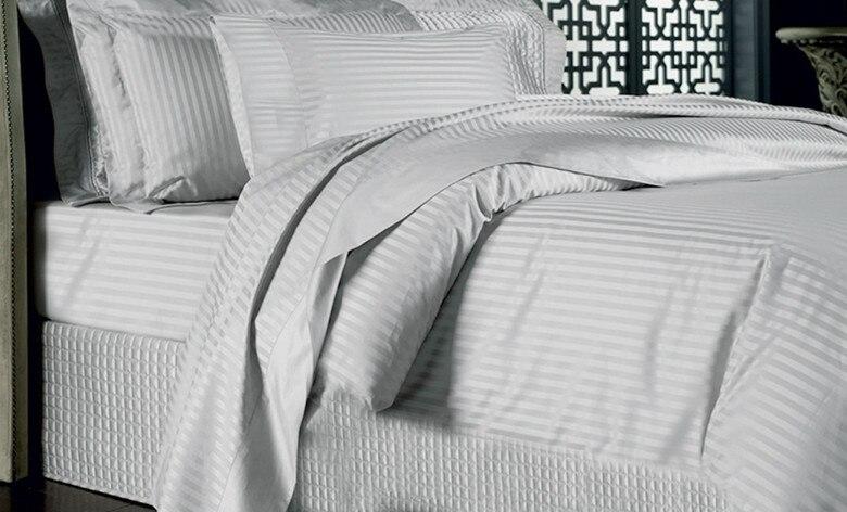 100% Египетский хлопок 1000TC двуспальная очень большая двуспальная размеры Белый Кот серебристый цвета простыни Duvet cove наволочки N штук комплек