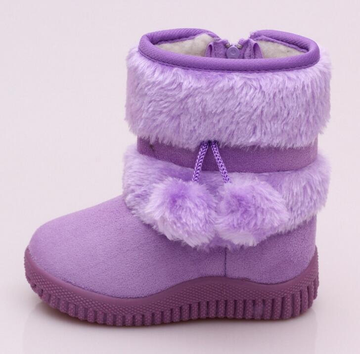 Girls Snow Shoes New Fashion Comfortable Thick Warm Kids Boots lobbing ball thick Childrens Winter Cute Boys Boots ...