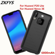 ZKFYS 6800mAh High Quality Battery Case For Huawei P20 Lite Fast Charger Cover Nova 3E Backup Power Bank