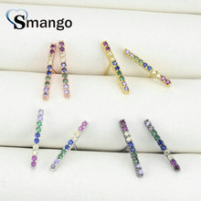 5 Pairs,The Rainbow Series,The Strip Shape Earrings for Women,Fashion Design, 4 Plating Color,Can Mix Can Wholesale