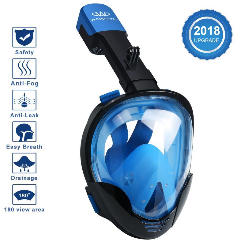 Professionnel Sous-Marine Plongée masque de plongée Plein masque de plongée en apnée M8018 pour Gopro Mouvement Caméra Pour Xiaomi Yi pour SJ4000 Nouveau - 3