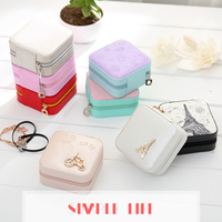 New Fashion Jewelry Display Casket Jewelry Organizer Earrings Ring Box Case For Jewlery Gift Box Jewelry