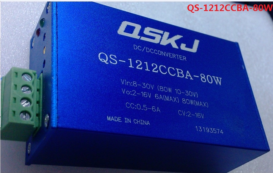 QS-1212CCBA-80W DC Auto Boost Buck Converter Input: 8-30V, Output: 2-16V Constant current Constant voltage dc dc automatic step up down boost buck converter module 5 32v to 1 25 20v 5a continuous adjustable output voltage