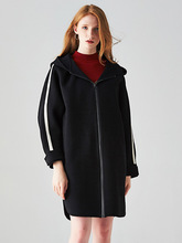 High Quality 2019 Autumn Winter Woolen Coat Womens Double-faced Cashmere Jacket New Designer Elegant Casual Coats Female
