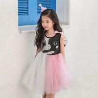 Nowy 2018 Letnia Sukienka Dla Dzieci Dziewczyny Mesh Dress Dzieci Patchwork Sukienka sundress Toddler Dzieci Suknia Balowa Sukienka Unikalna Konstrukcja, 2597