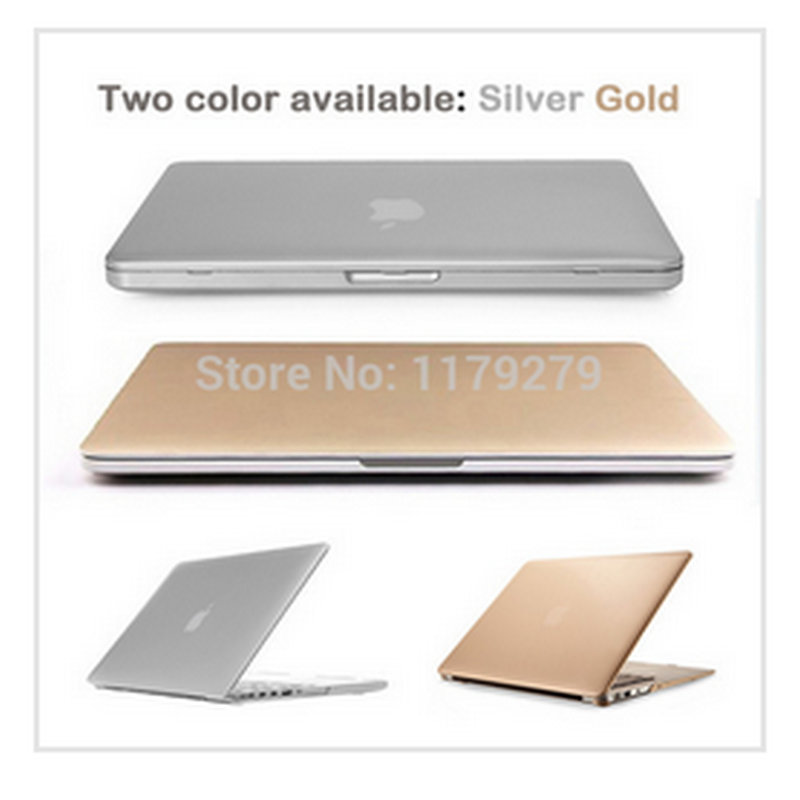 on sale edab5 a2028 US $11.27 |laptop Gold/Silver Sleeves Covers sleeve notbook Hard Cases For  Macbook air 11 pro 13 retina 12 15 For Mac book without logo-in Laptop Bags  ...