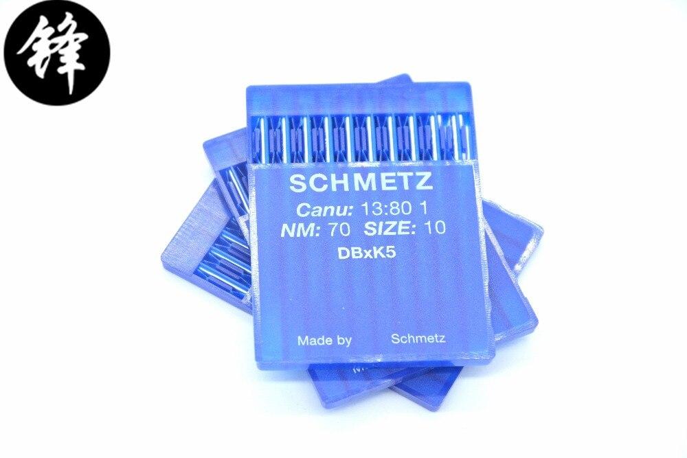 10 Uds aguja de bordado industrial original Schmetz DB * K5 DBXK5 SES para Tajima Barudan SWF ZSK China piezas de máquina de bordado