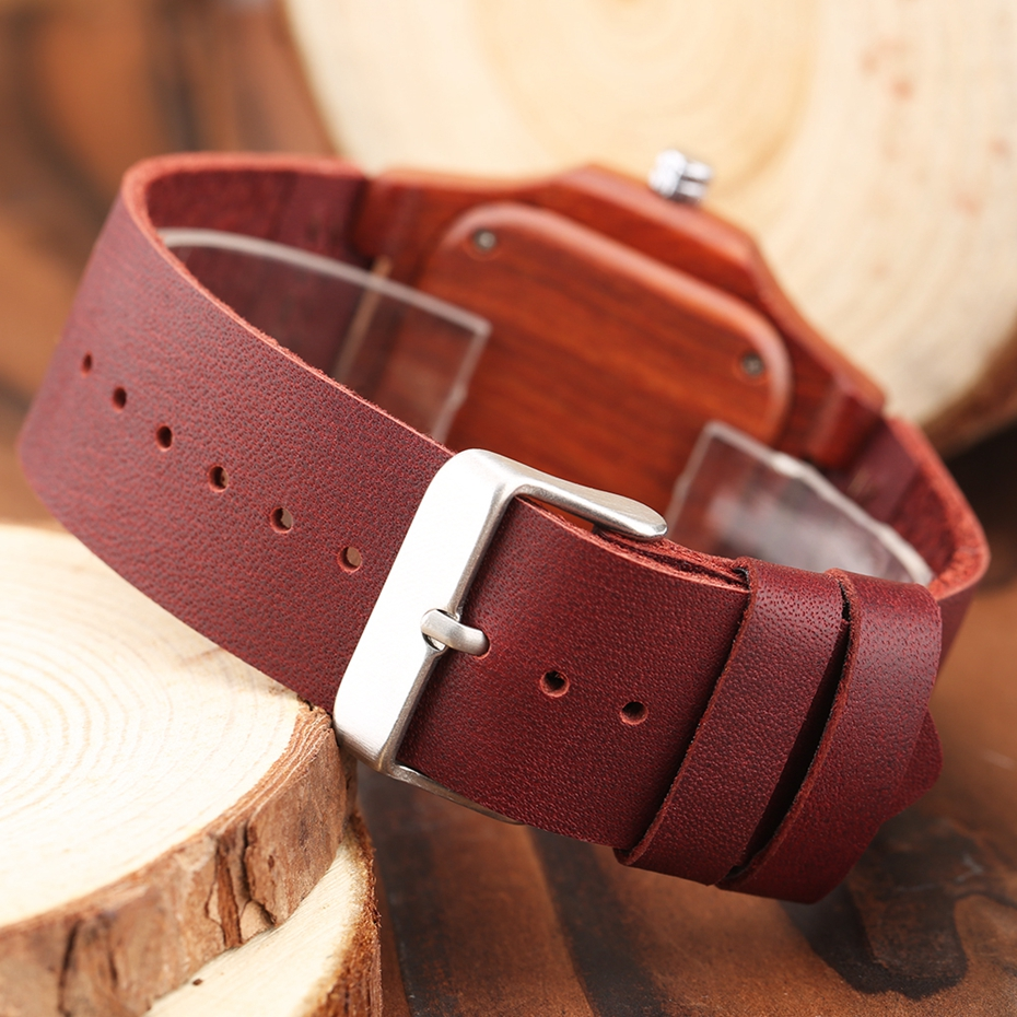 2017 New arrivals Wood Watch Natural Light Wooden Face Fashion Genuine Leather Bangle Unisex Gifts for Men Women Reloj de madera Christmas Gifts (45)
