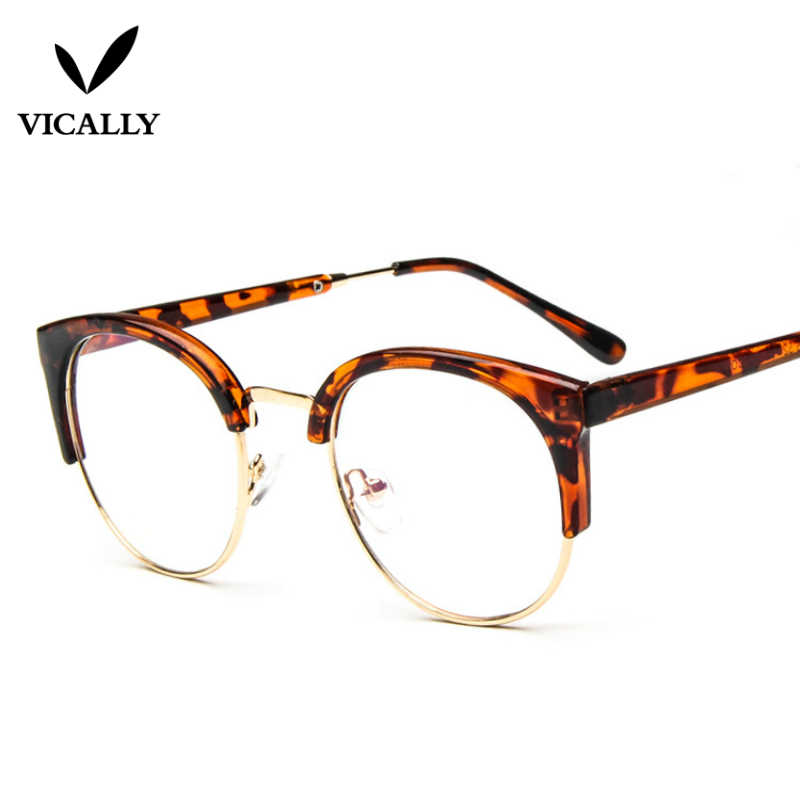 5c39ffeb15ef ... Fashion Metal Half Frame Glasses Frame Retro Woman Men Reading Glass UV  Protection Clear Lens Computer ...