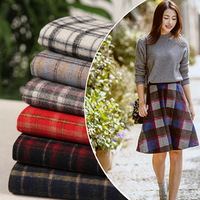 Autumn and winter coat fabrics Wool yarn dyed plaid fabric Coat jacket cloth 300g/m